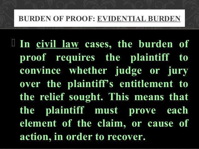 relationship between presumption and burden of proof