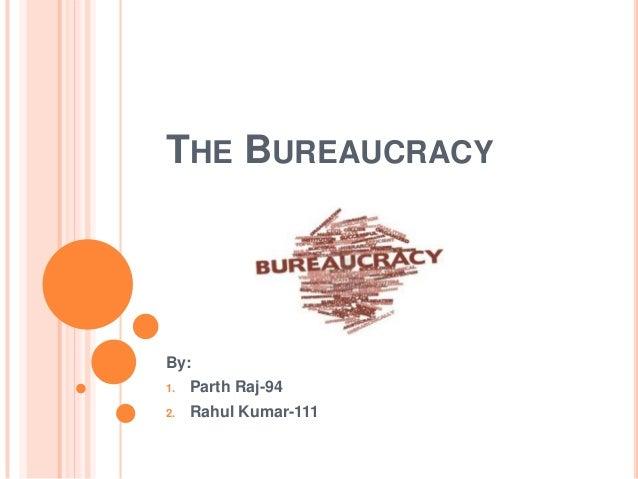 THE BUREAUCRACY By: 1. Parth Raj-94 2. Rahul Kumar-111