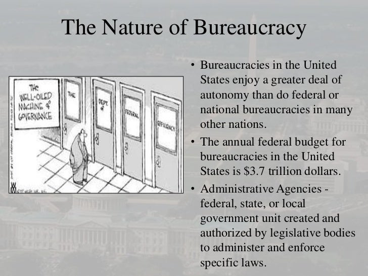 the bureaucracy The last century saw the perfection of the bureaucracy -- a form of organization that has been enormously successful and is the result of thousands of.