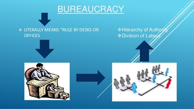 webers theory of bureaucracy Max weber's theory of bureaucracy is advocated the system which is based on the standardised procedures and a clear chain of command this mean bureaucracy is the most efficient form of organisation and well-defined line of authority with crystal clear rules and regulation which are strictly followed.