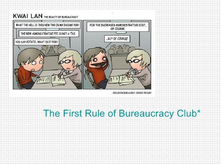 characteristics of bureaucracy A bureaucracy is a government that is administered by non-electedofficials who are employees of the government (usually supervisedby the current elected officials.