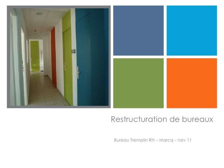 +    Restructuration de bureaux    Bureau Tremplin RH – Marcq – nov 11
