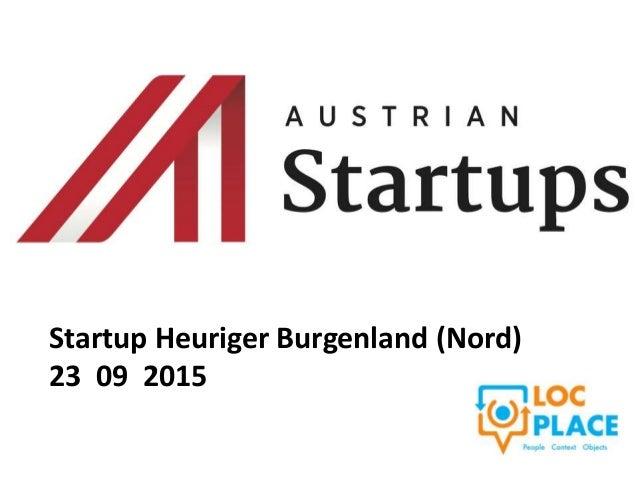 Startup Heuriger Burgenland (Nord) 23 09 2015