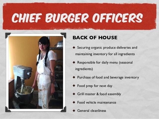 Burger kiosk business plan