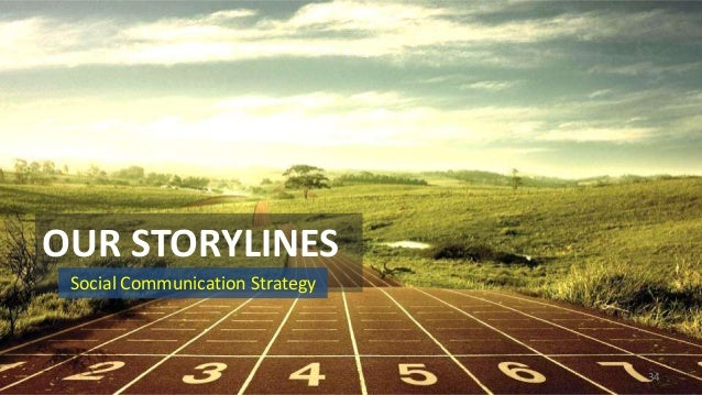 OUR STORYLINES Social Communication Strategy  34