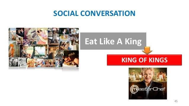 SOCIAL CONVERSATION  Eat Like A King KING OF KINGS  45