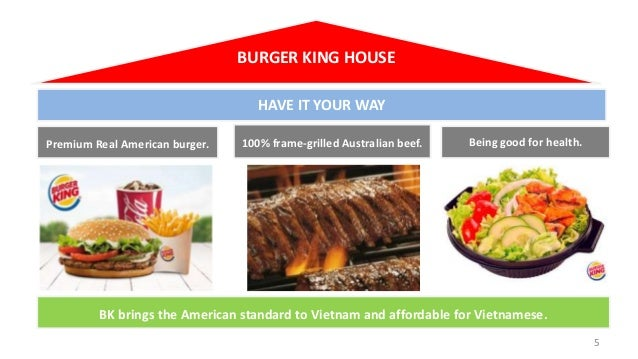 BURGER KING HOUSE HAVE IT YOUR WAY Premium Real American burger.  100% frame-grilled Australian beef.  Being good for heal...