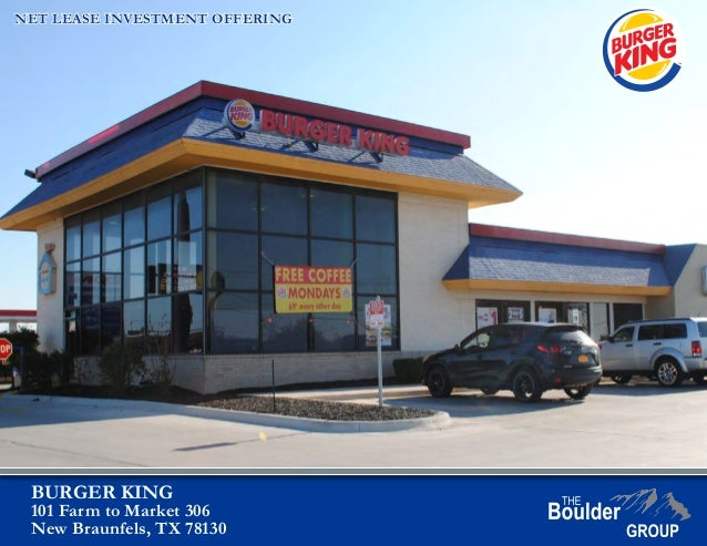 Net Lease Burger King For Sale