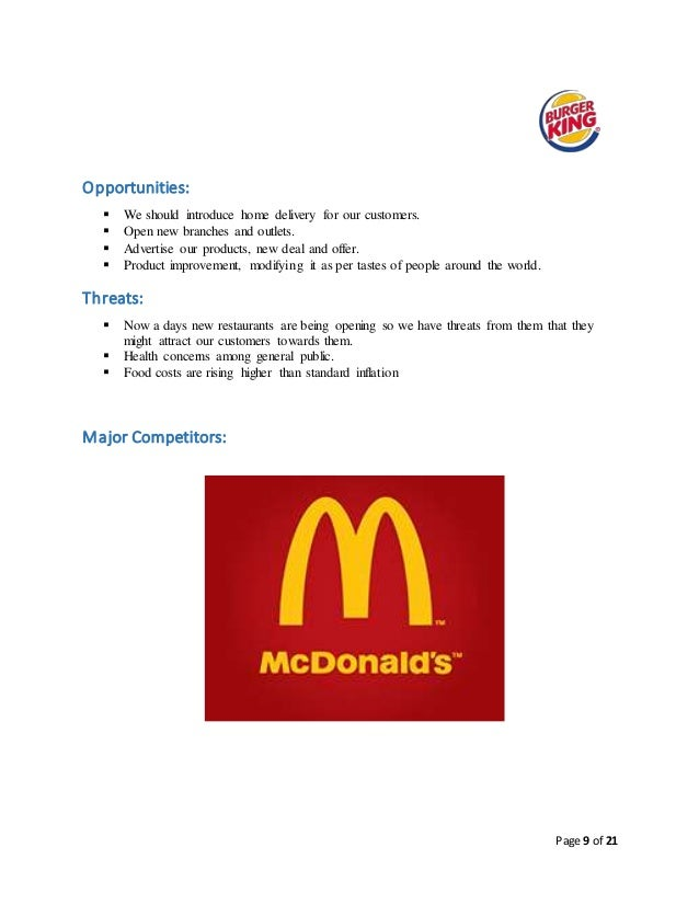 burger king product differentiation Start studying management practice test learn  if burger king were to buy out  a company purchases a cost or product differentiation advantage in a.