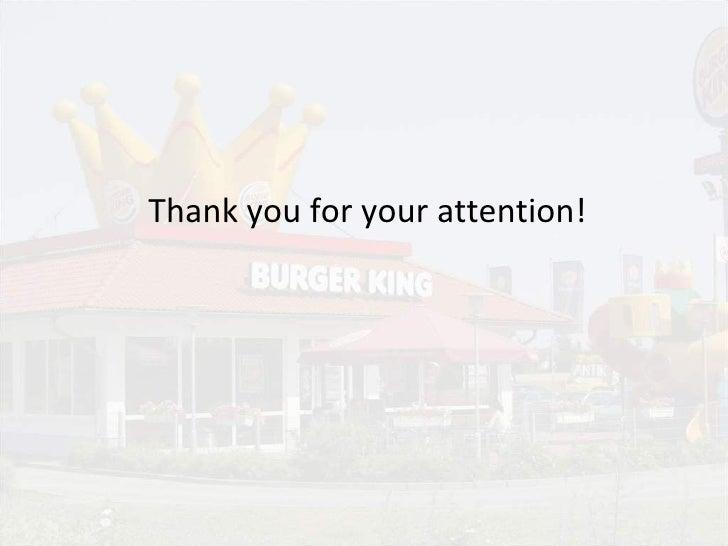 Burger King Corporation1