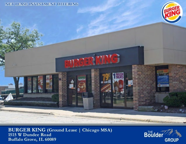 Net Leased Burger King Property For Sale