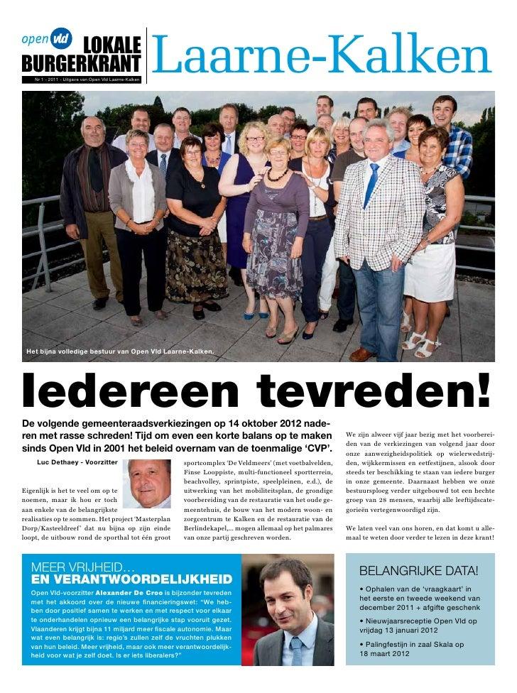 LokaLeBurgerkrant    Nr 1 - 2011 - Uitgave van Open Vld Laarne-Kalken                                                     ...