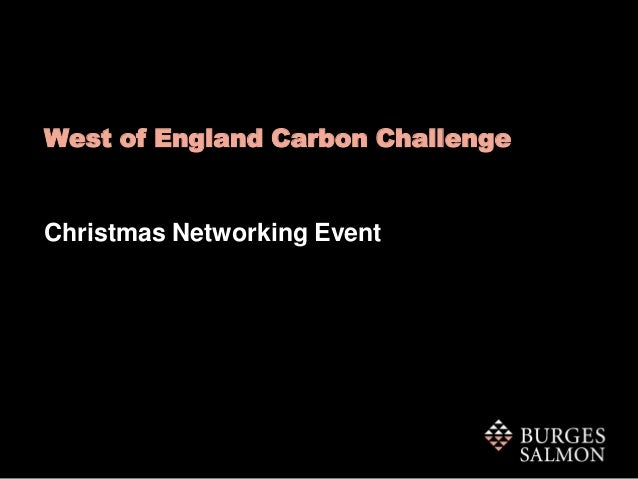 West of England Carbon Challenge  Christmas Networking Event