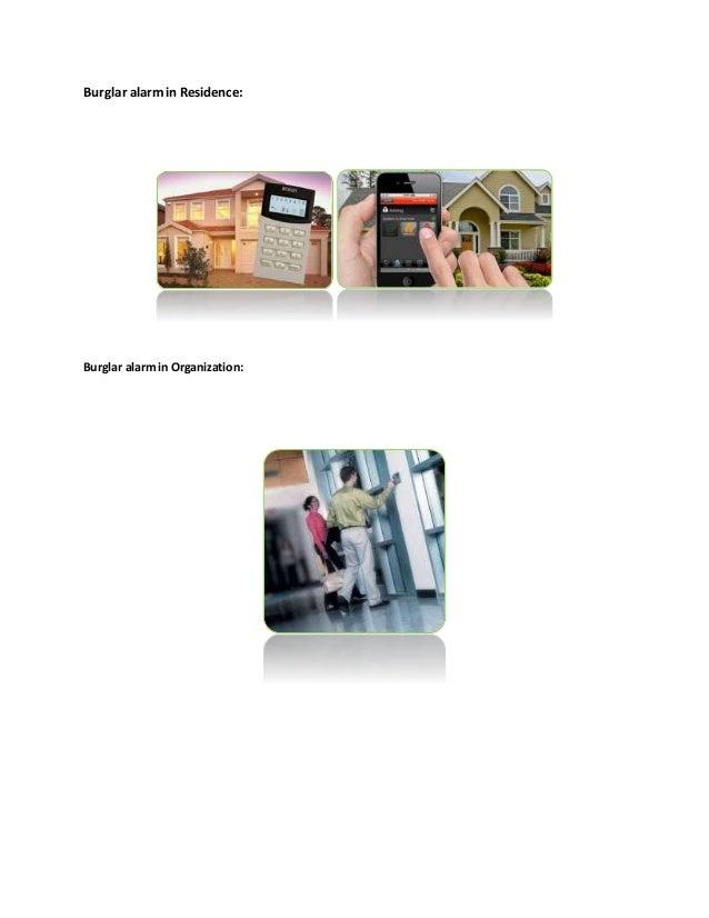 Burglar alarm information Slide 3