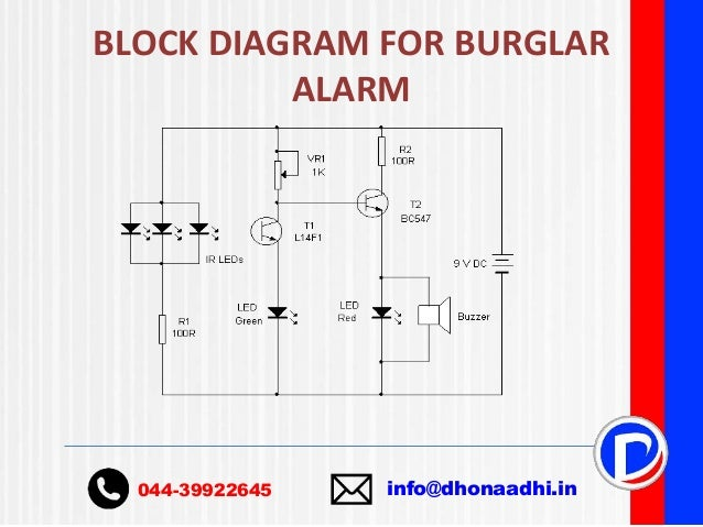 burglar alarm ppt rh slideshare net burglar alarm circuit diagram using ic 555 burglar alarm schematic diagram