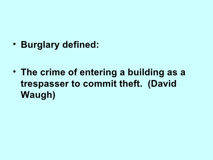 what does burglary of conveyance mean