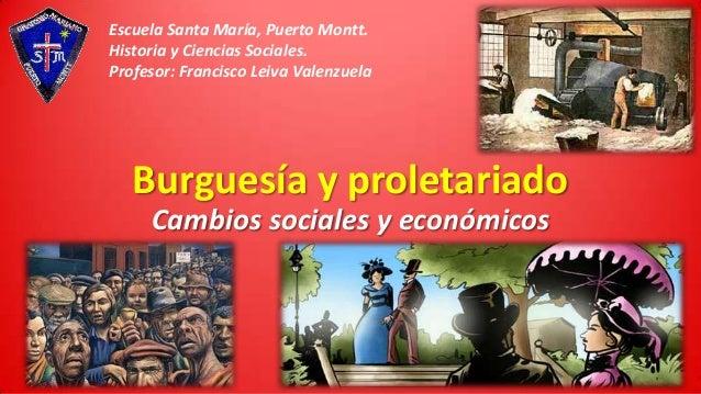 Escuela Santa María, Puerto Montt. Historia y Ciencias Sociales. Profesor: Francisco Leiva Valenzuela  Burguesía y proleta...