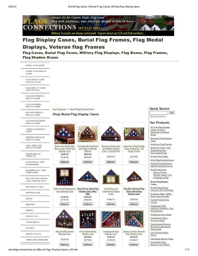 Burial flag cases, veteran flag cases, military flag display cases