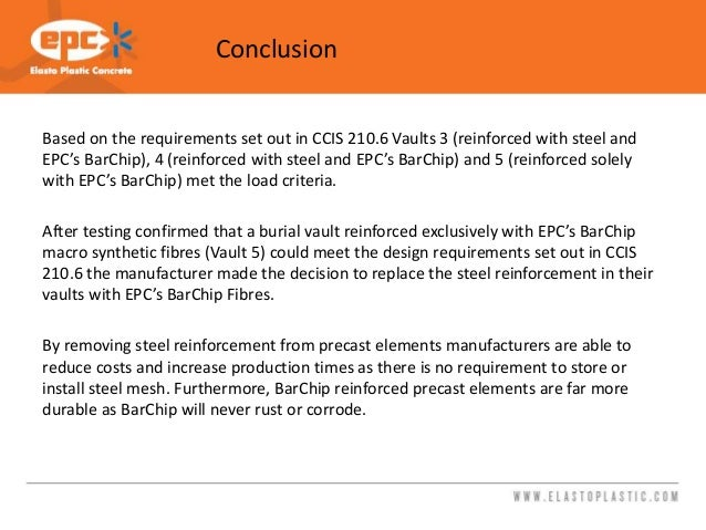Testing Report- EPC BarChip Reinforced Burial Vaults