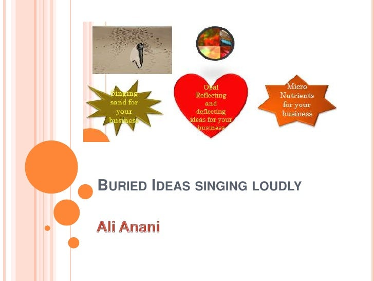 Buried Ideas singing loudly<br />Ali Anani<br />