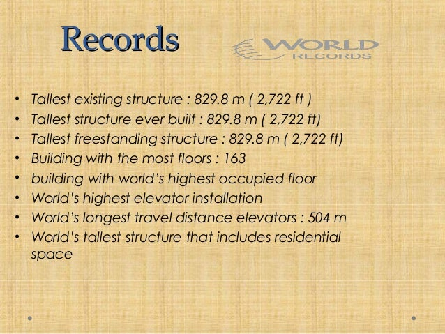 information about burj khalifa in english