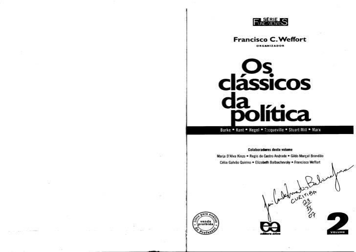 liltiL7~ficRl          Francisco C. Weffort                        ORGANIZAOOR  p~CaSSICOSl  da lt•      1 1ca            ...