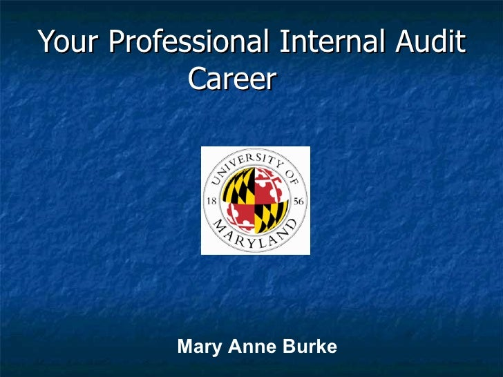 Your Professional Internal Audit Career   Mary Anne Burke