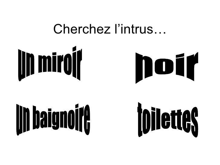 Cherchez l'intrus… un miroir un baignoire toilettes noir