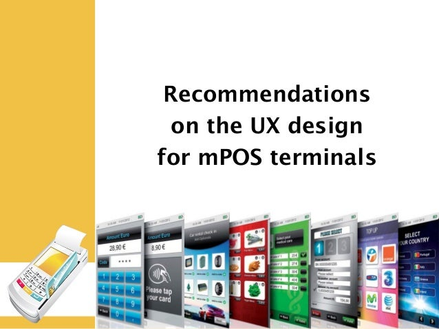 User interfaces for the next generation mobile POS-terminals
