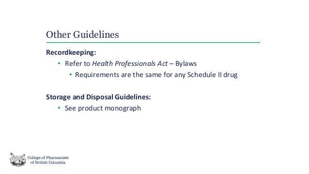 naloxone pharmacist only medication guideline