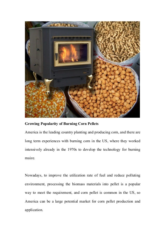 Clinker Picture Of Corn : Corn pellet a new energy for heating