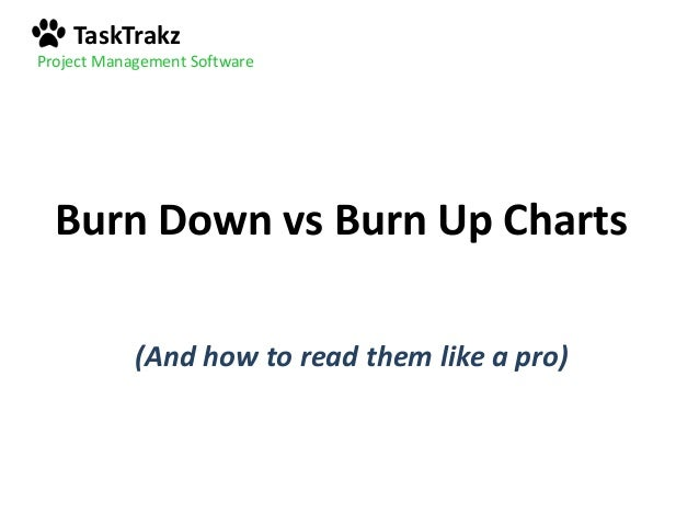 TaskTrakz Project Management Software Burn Down Vs Burn Up Charts (And How  To Read Them ...