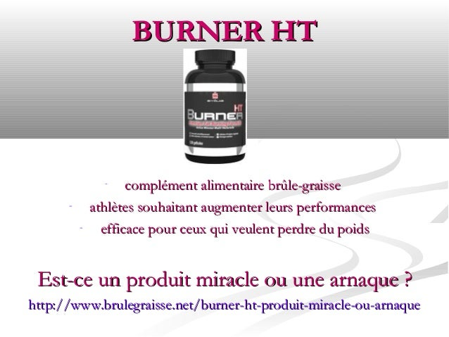 BURNER HT                -    complément alimentaire brûle-graisse      -       athlètes souhaitant augmenter leurs perfor...
