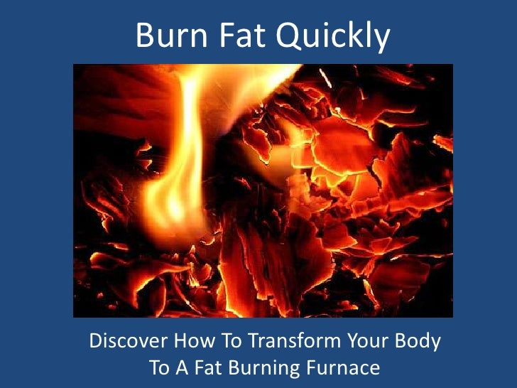 Burn Fat Quickly<br />Discover How To Transform Your Body To A Fat Burning Furnace<br />