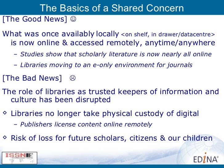 Archiving The Worlds E-Journals:The Keepers Registry As Global Monitor Slide 3