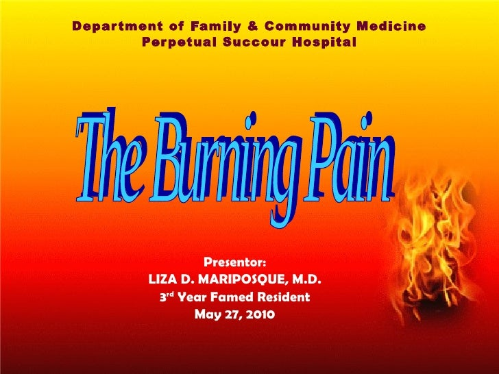 Department of Family & Community Medicine Perpetual Succour Hospital Presentor: LIZA D. MARIPOSQUE, M.D. 3 rd  Year Famed ...