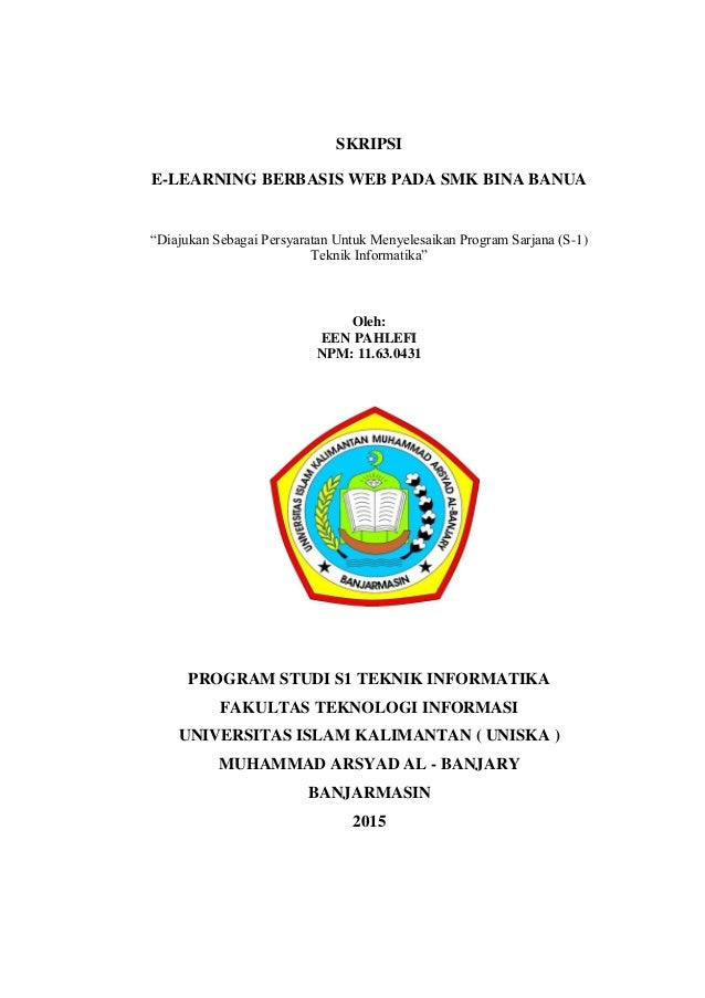 Skipsi E Learning Berbasis Web Pada Smk Bina Banua