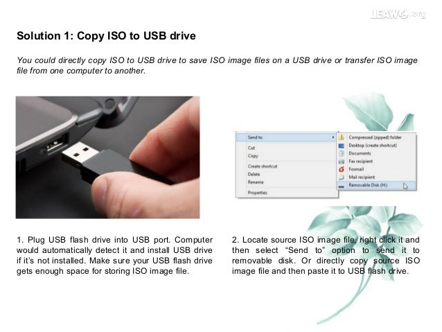 how to mount an iso image on usb drive