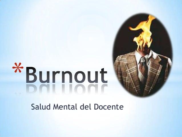 Salud Mental del Docente*