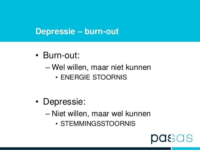 burn out depressie
