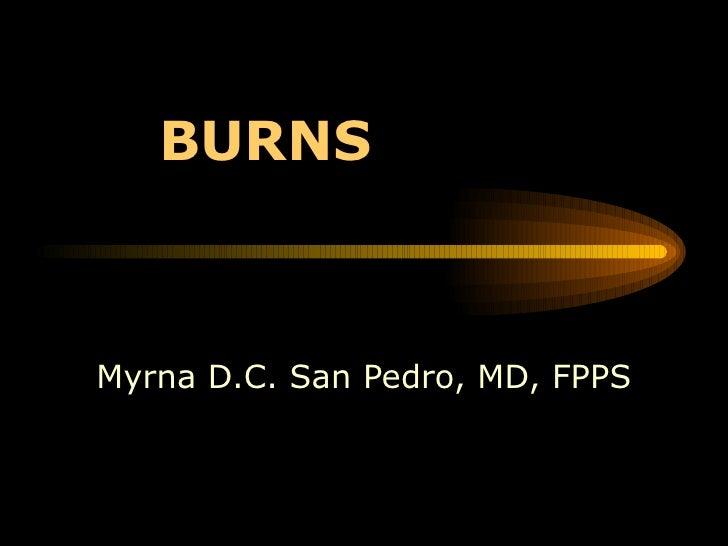 BURNS Myrna D.C. San Pedro, MD, FPPS