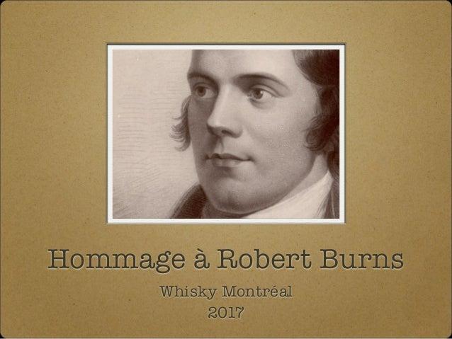 Hommage à Robert Burns Whisky Montréal 2017