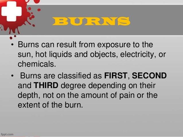 Burns first aid Slide 2