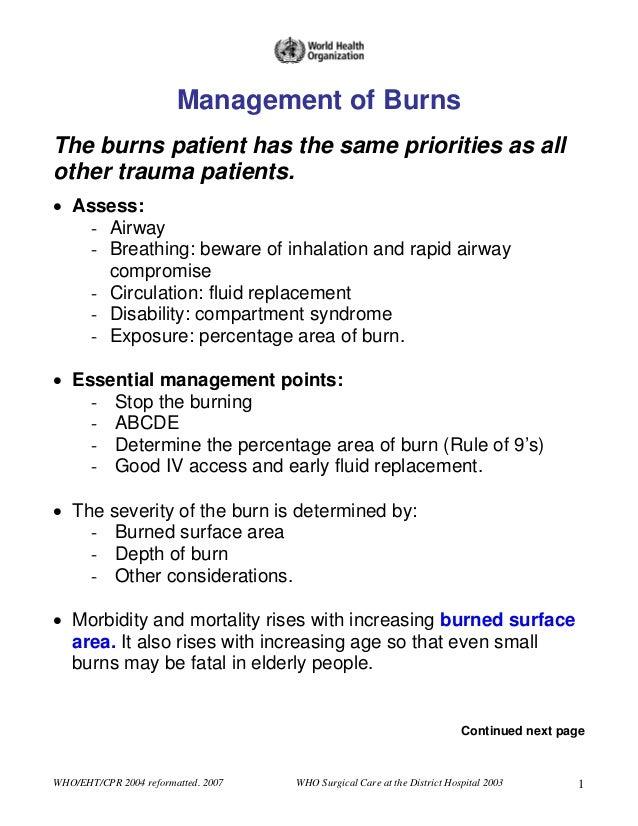 Burns Management