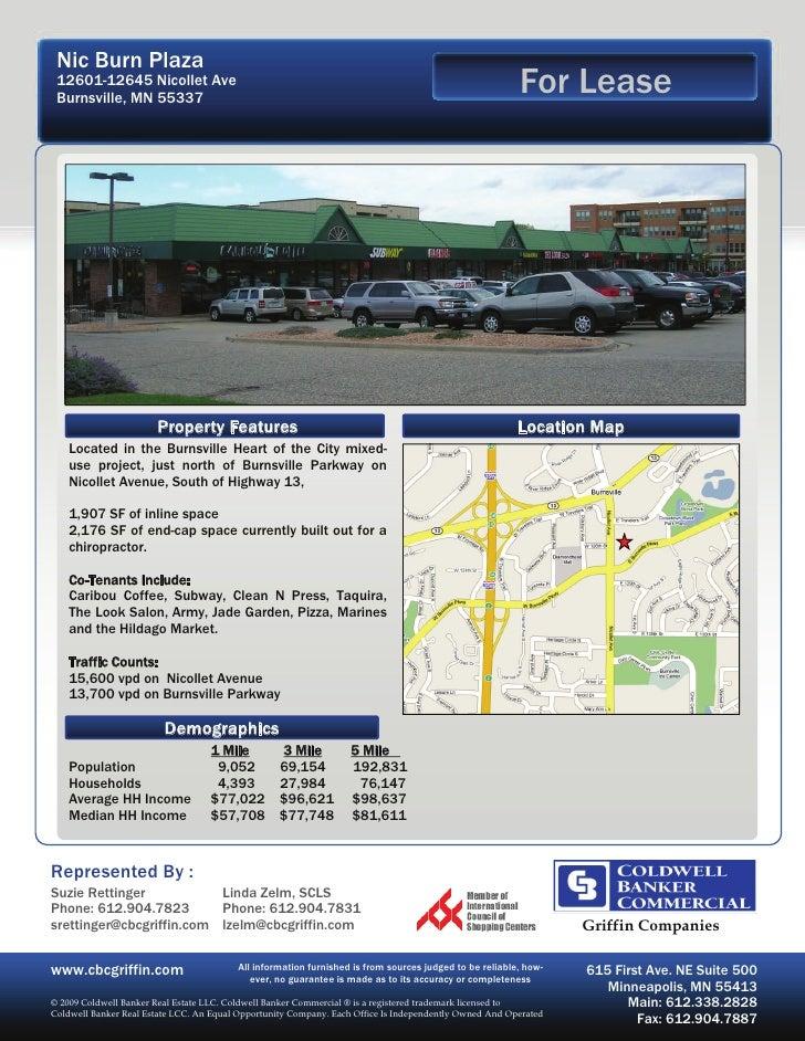 Nic Burn Plaza  12601-12645 Nicollet Ave  Burnsville, MN 55337                                                            ...