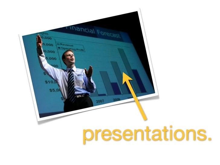 presentations.