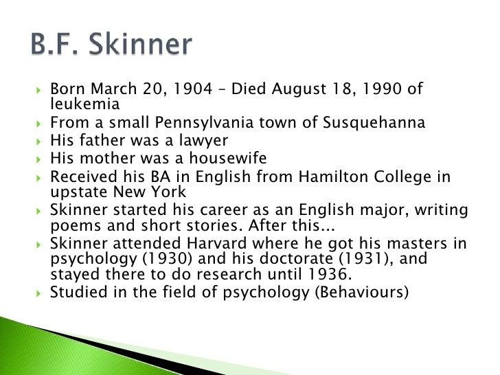 B.F. Skinner Slide 2