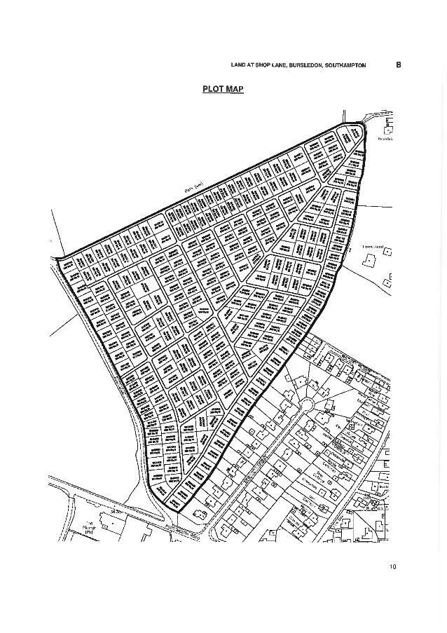 Bursledon plot map