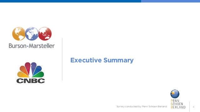 4  Executive Summary  Survey conducted by Penn Schoen Berland.