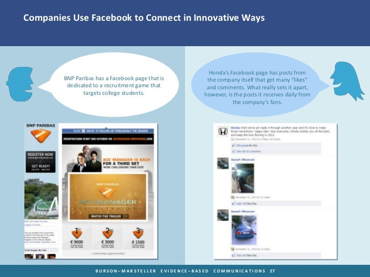 Companies Use Facebook to Connect in Innovative Ways                                                           Honda's Fac...